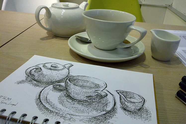 Tea in Marks and Spencer