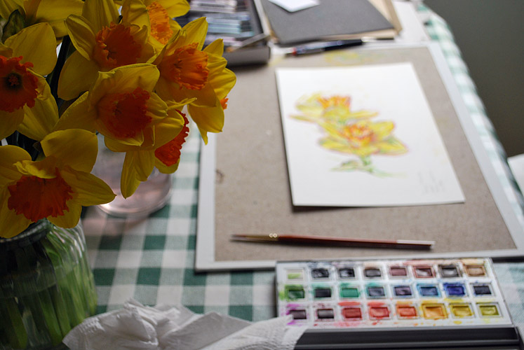 Painting daffodils