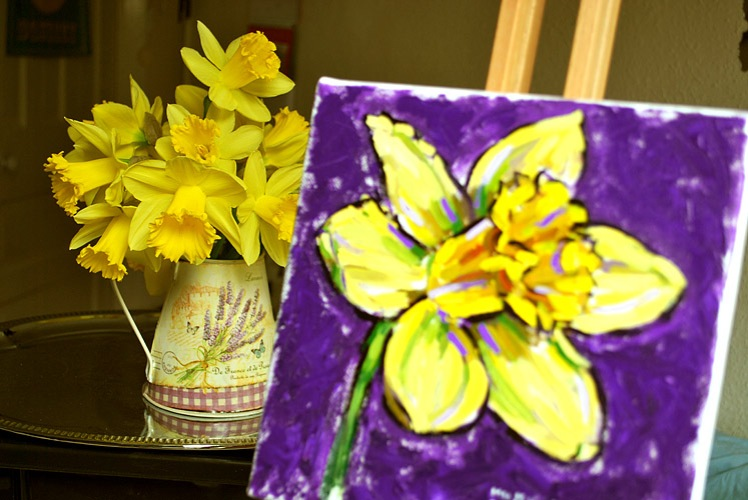 Painting of a daffodil
