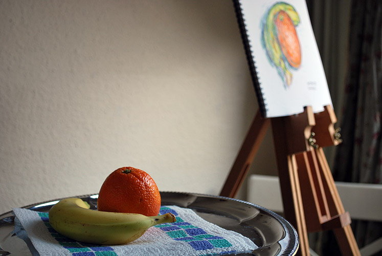 Still life painting of some fruit