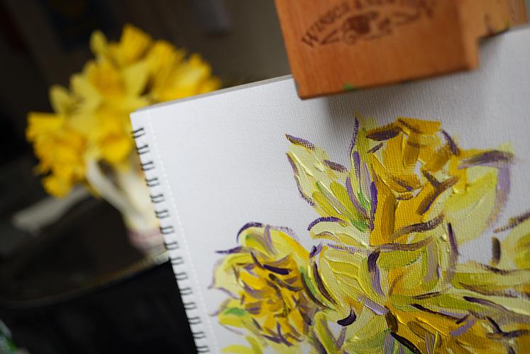 Painting daffodils
