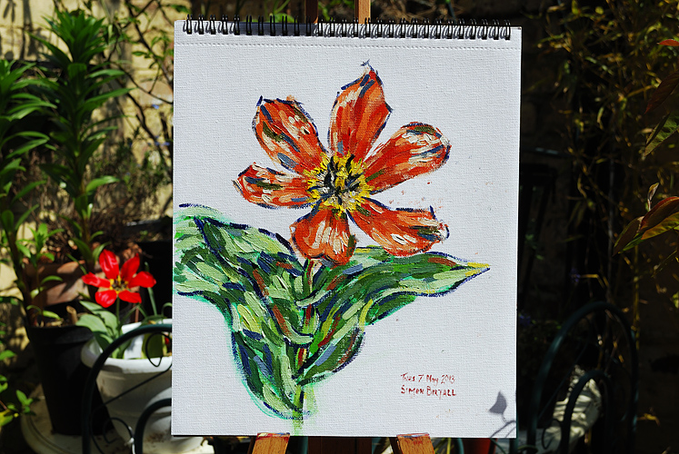 Painting of tulip