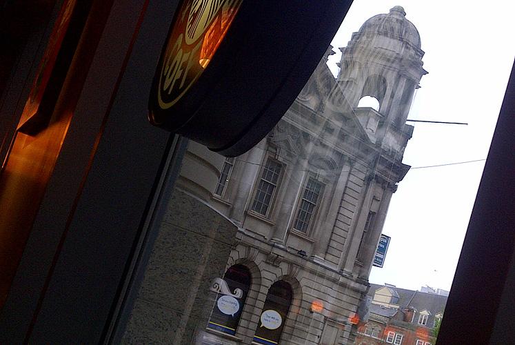 View from Starbucks in Birmingham