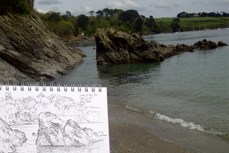 Drawing at Trebah - Simon Birtall