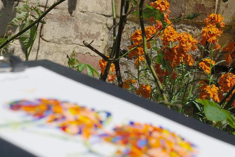 Garden painting by Simon Birtall