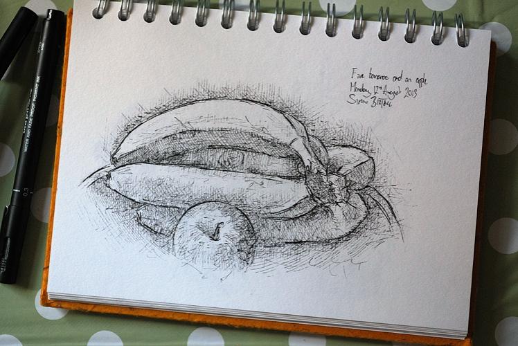 Still life drawing by Simon Birtall