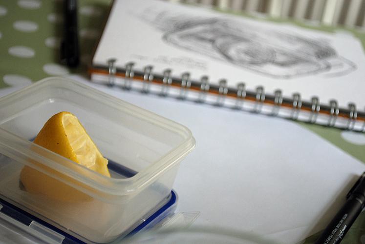 Drawing a lemon