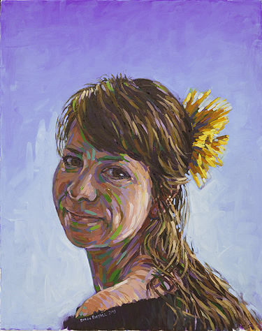 Portrait painting in oils on canvas