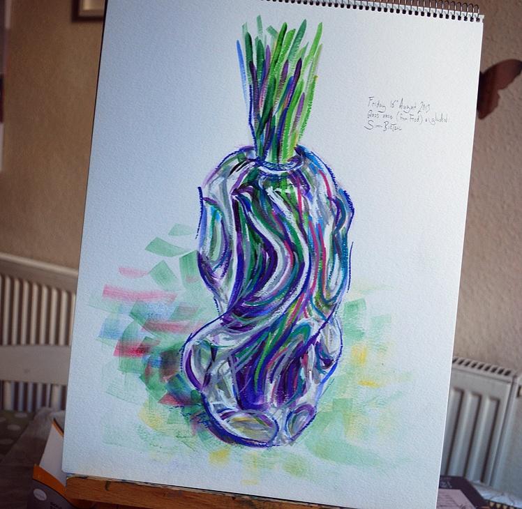 Sketch of a glass vase