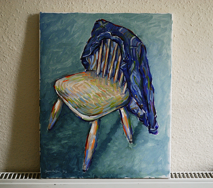 Painting of a chair