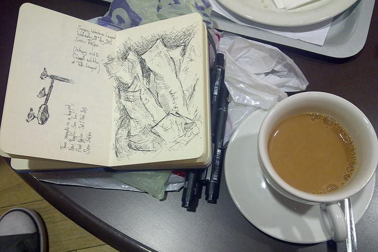 Drawing sugar sachets