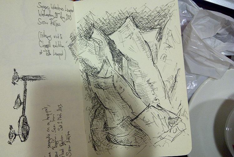 Drawing of sugar sachets