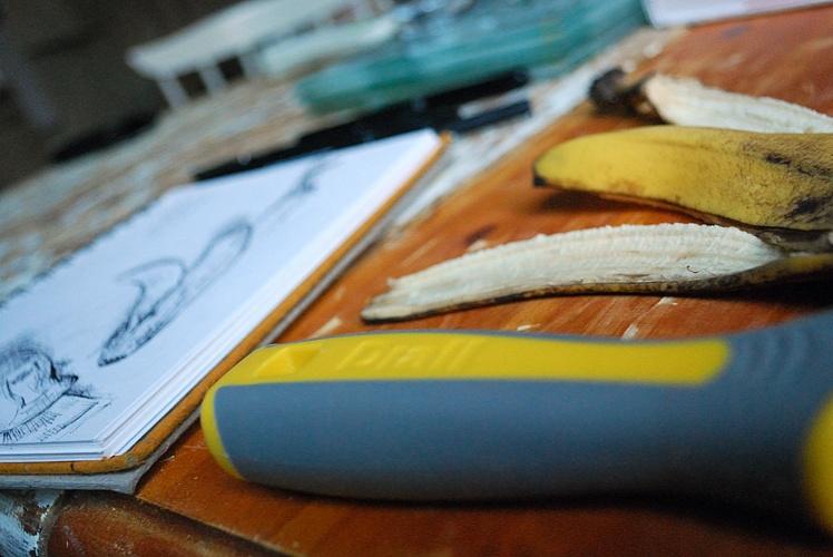 Drawing a banana peel
