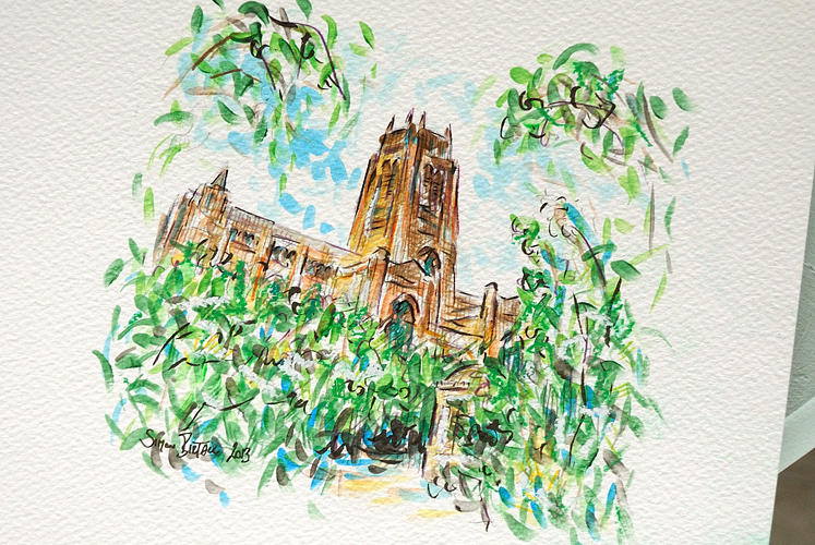 Liverpool Anglican Cathedral - art by Simon Birtall