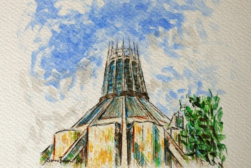 Sketch of Liverpool Metropolitan Cathedral