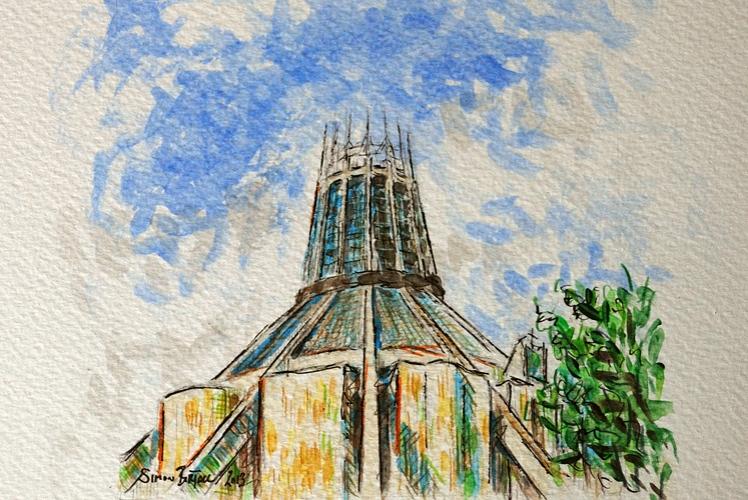 Sketch of Liverpool Metropolitan Cathedral