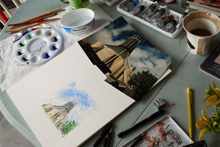 Sketching Liverpool Metropolitan Cathedral
