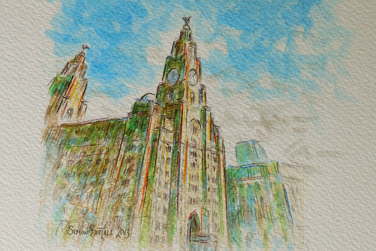 Sketch of the Royal Liver Building