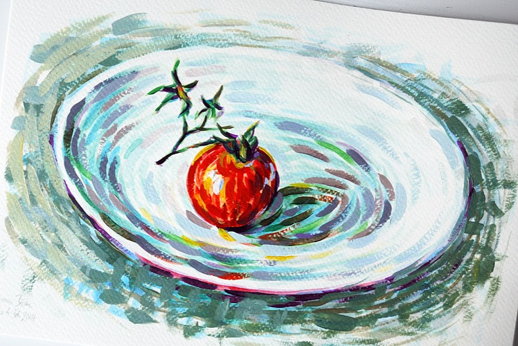 Painting of a tomato