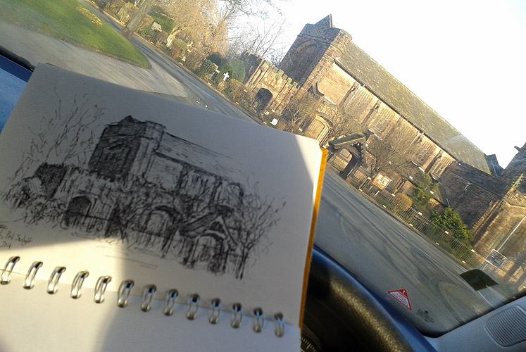Drawing Christ Church, Port Sunlight
