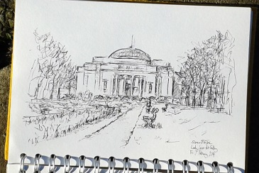 Drawing of Lady Lever Art Gallery