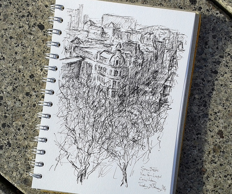 Drawing of Liverpool from the Central Library