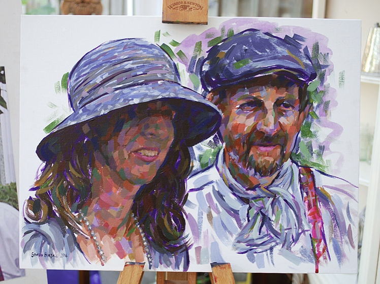 Portrait painting in acrylics on canvas
