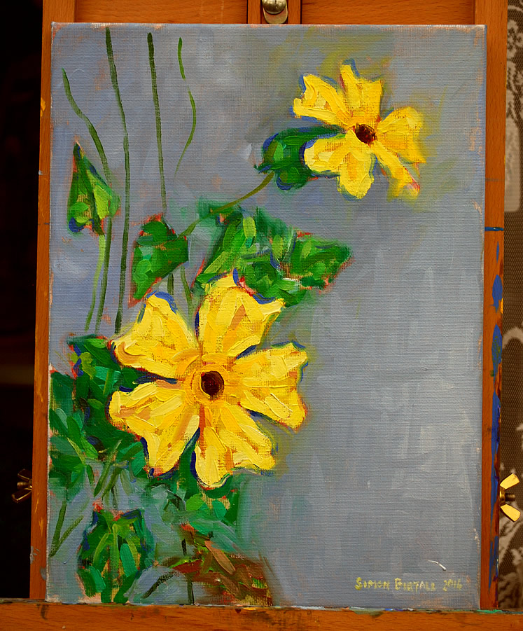 Painting of a Black Eyed Susan plant