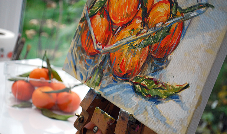 Painting clementines