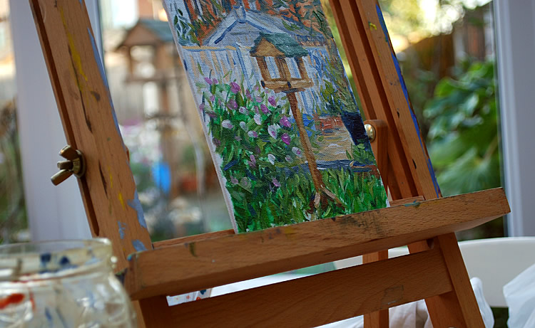 Painting a garden