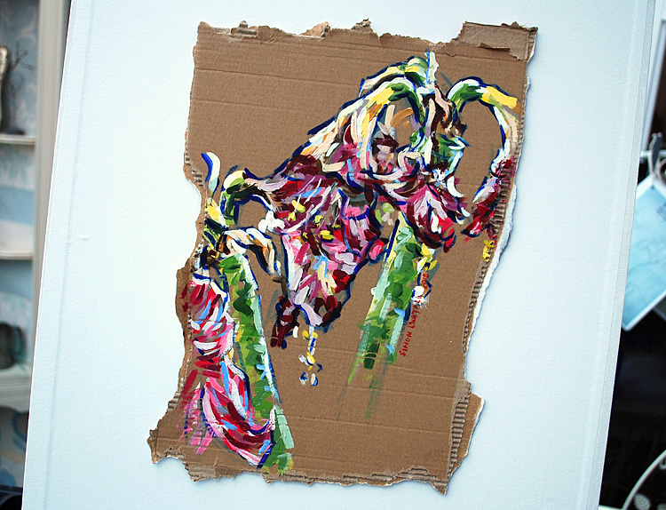 Painting of an amaryllis plant