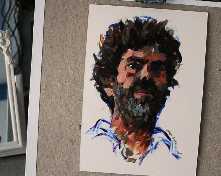 Self portrait by Simon Birtall