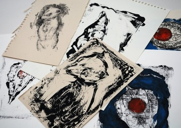 A collection of monoprints