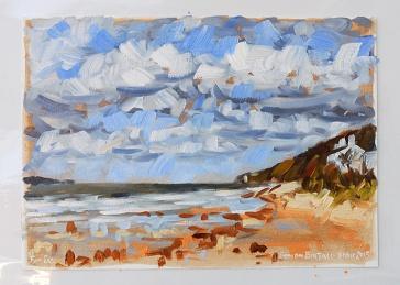 Painting of Thursaston Beach