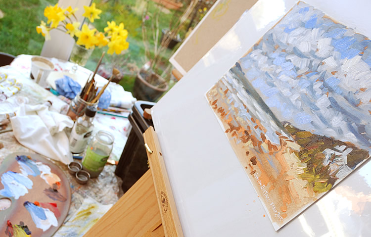Painting session - Thurstaston beach