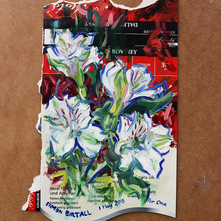 Painting of Alstroemeria