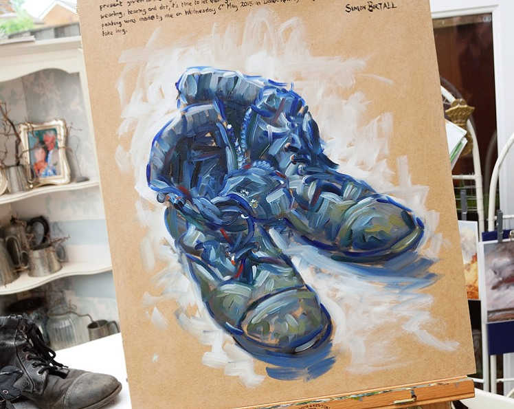 Painting of a pair of boots