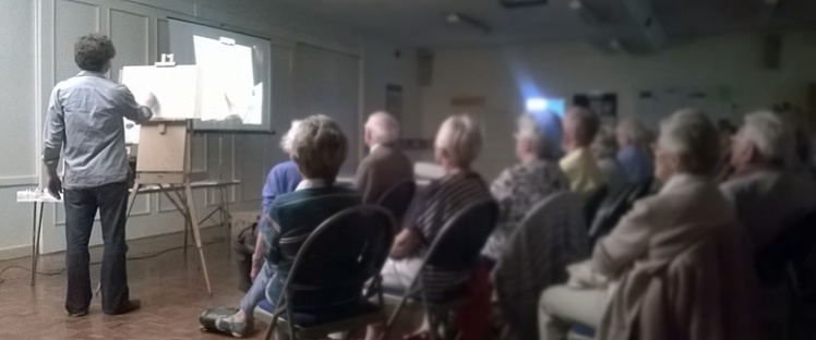 Demonstration for Irby Artists group