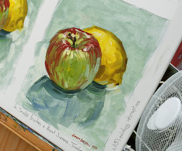 Apple and Lemon painting