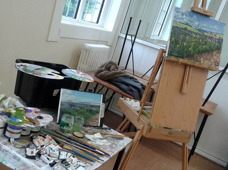 Painting demonstration - landscapes in acrylics