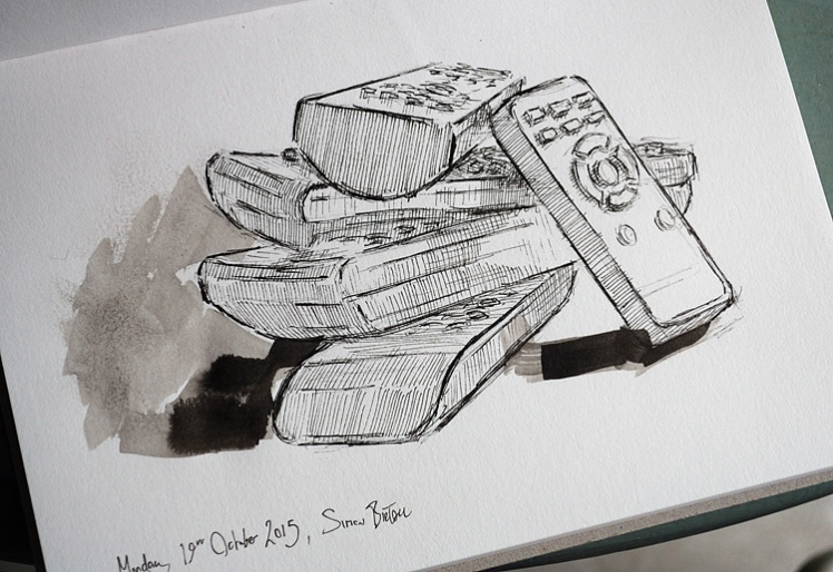 Drawing of remote controls