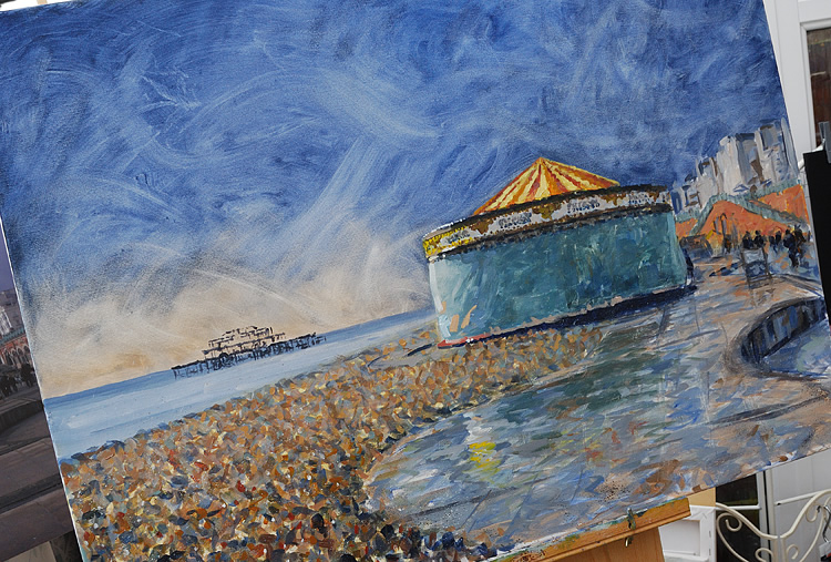 Painting of Brighton beach