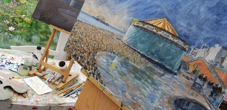 Painting Brighton beach
