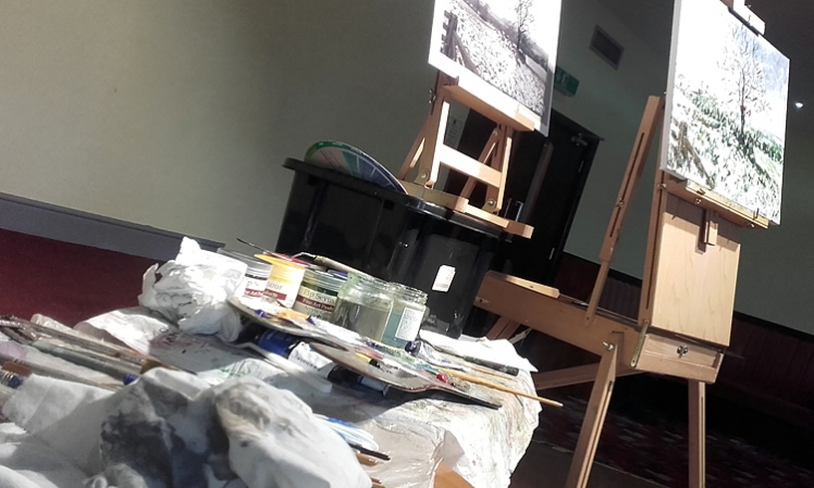 Painting set up